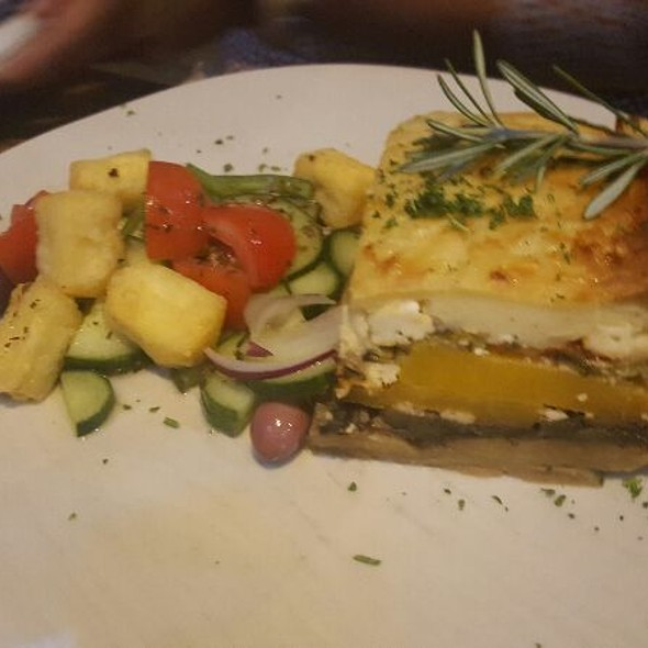 Vegetarian Moussaka @ Mythos
