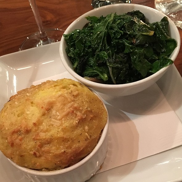 Side Of Sautéed Kale And Potato Soufle