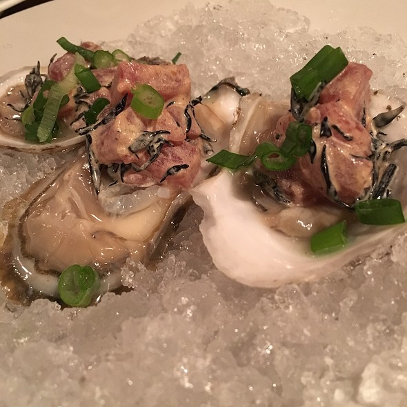 Oysters With Tuna Tar-Tar @ New World Bistro Bar