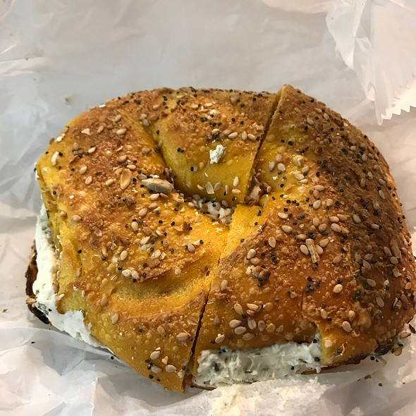 Egg Everything Bagel With Garlic Herb Cream Cheese @ Bread Brothers