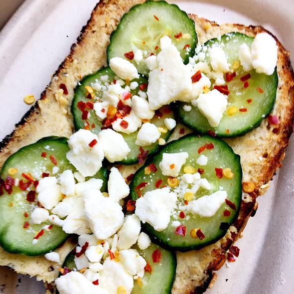 Cucumber With Feta On Toast
