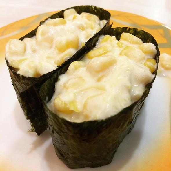 Corn Mayo Sushi @ Sushi Mentai 寿司明太