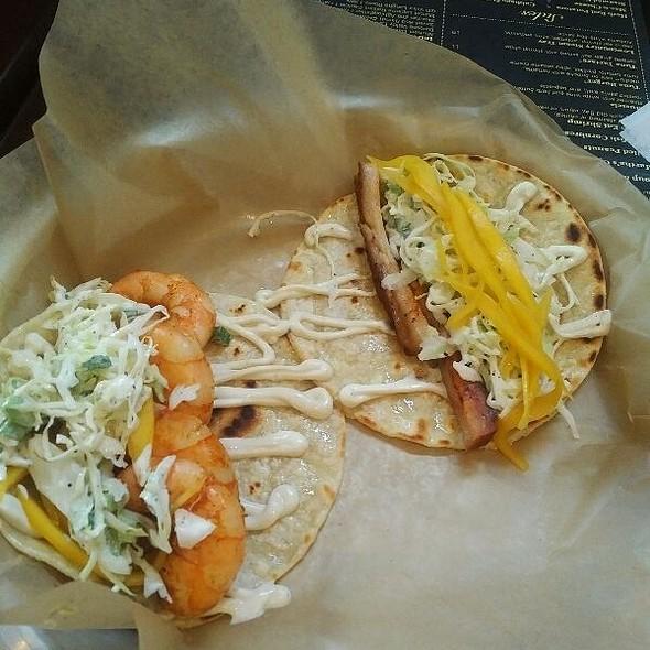 Shrimp And Pork Belly Tacos