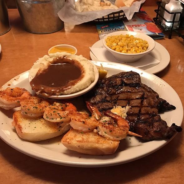 10Oz Ribeye Steak And Grilled Shrimp