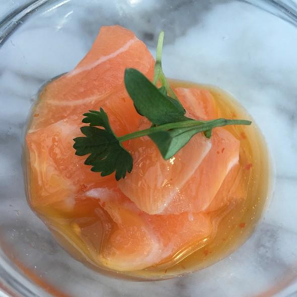 Salmon Truffle Sashimi