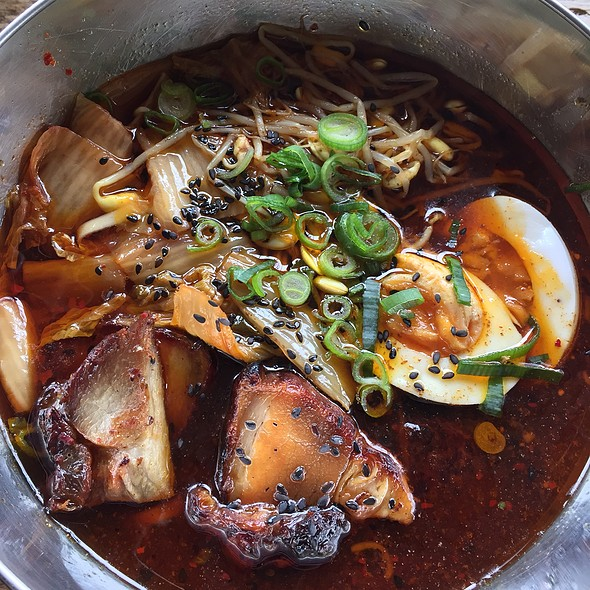Spicy Ramyun, Pork Belly + Egg