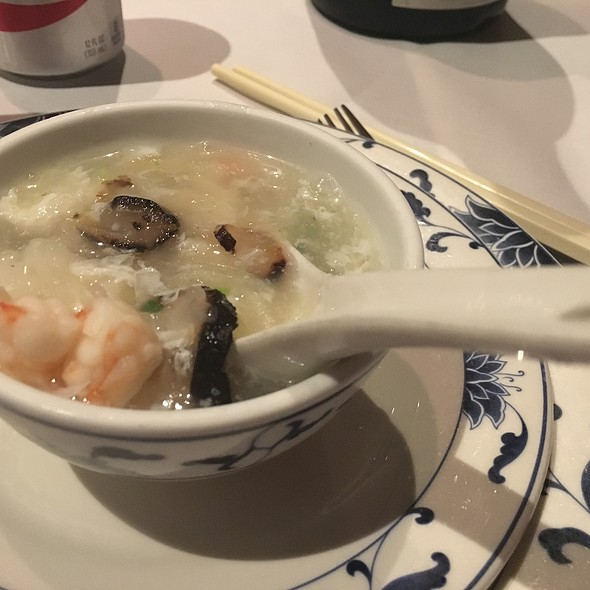 Winter Melon And Seafood Soup With Scallops, Sea Cucumber And Shrimp