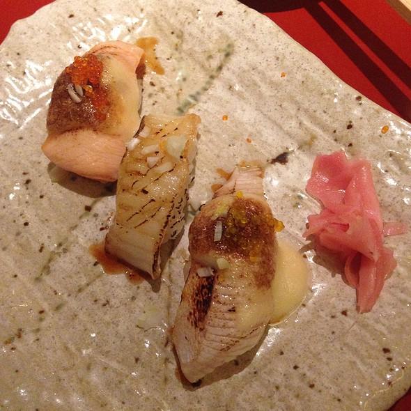 Three Kinds Aburi Miso Sushi