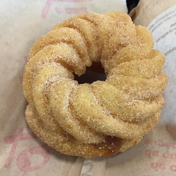 Churro Donut With Carmel Filling