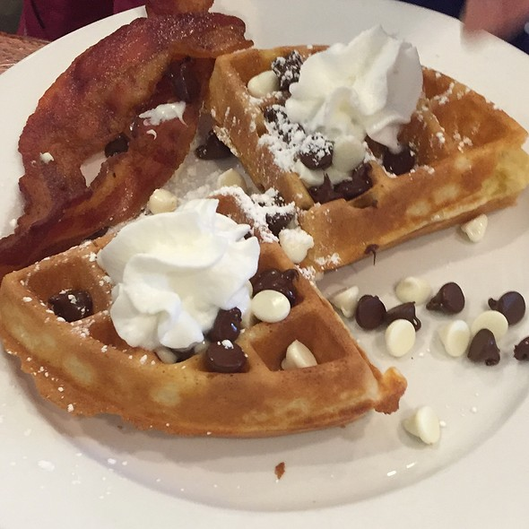 Waffle With Bacon @ Tiffany's Restaurant