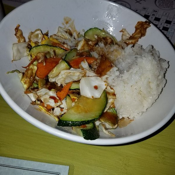 All Veggie Bowl With White Rice
