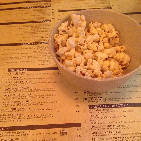 Complementary Popcorn @ Draft Gastropub