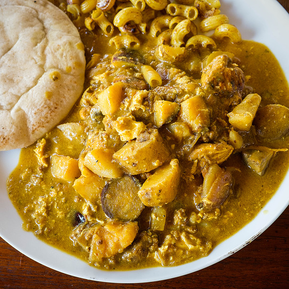 Red curry with chicken and sweet potato