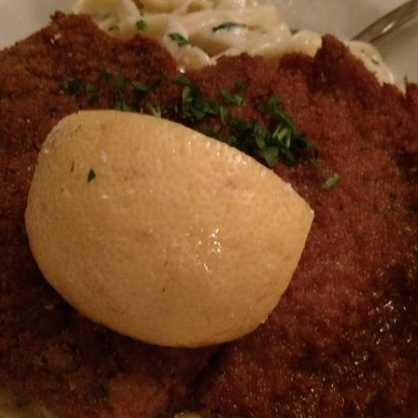 Fettuccini Alfredo With Veal Milanese