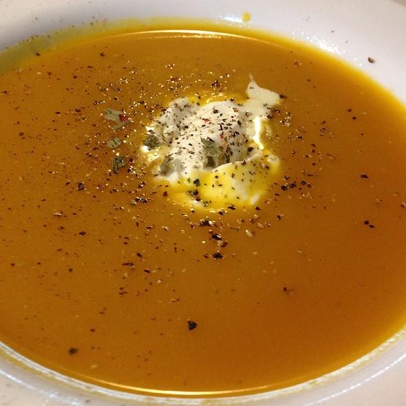 Home Made Pumpkin Soup with Cream
