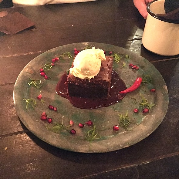Brownie with chilli