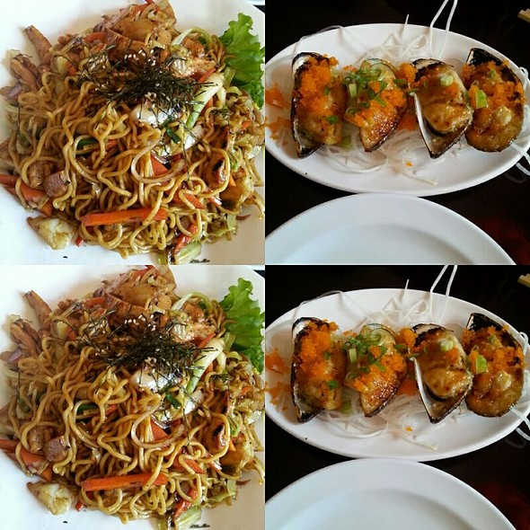 Mussels And Yakisoba Chicken Noodles  @ King Kong Sushi