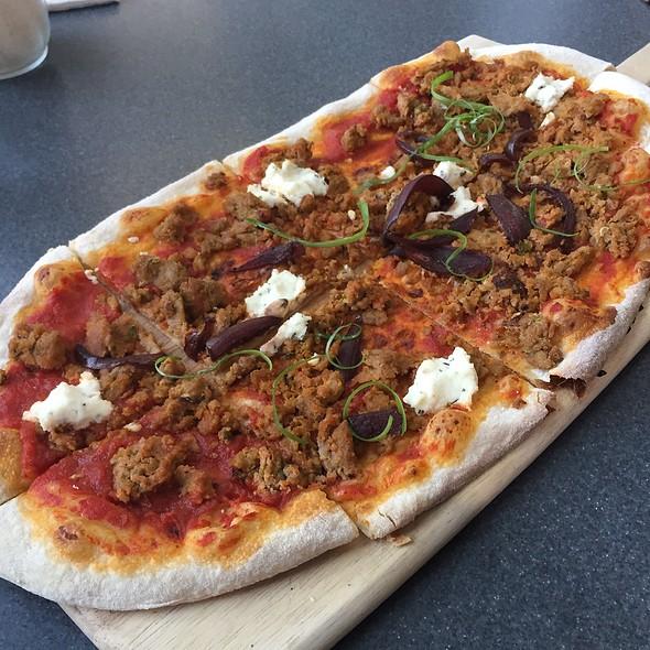 Spicy Chicken Sausage Pizza @ Figs