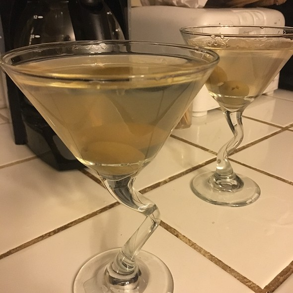 Dirty Martinis With Blue Cheese Olives @ Parents House