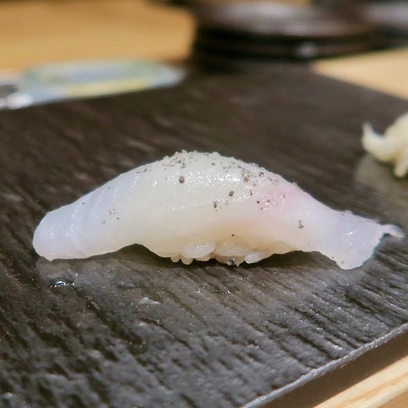 Halibut Nigiri With Yuzu And Sea Salt