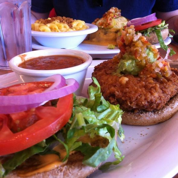 Santa Fe Crispy Chicken Sandwich @ The Veggie Grill