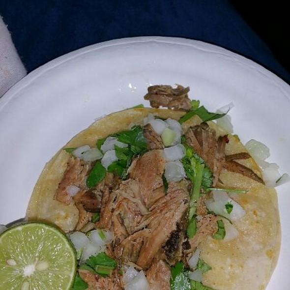 Carnitas Taco @ Tacos Mendoza