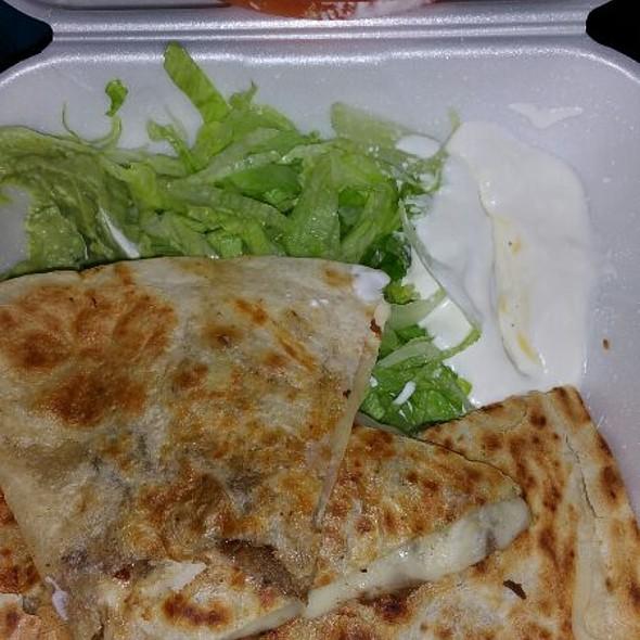 Carne Asada Quesadilla @ Tacos Mendoza