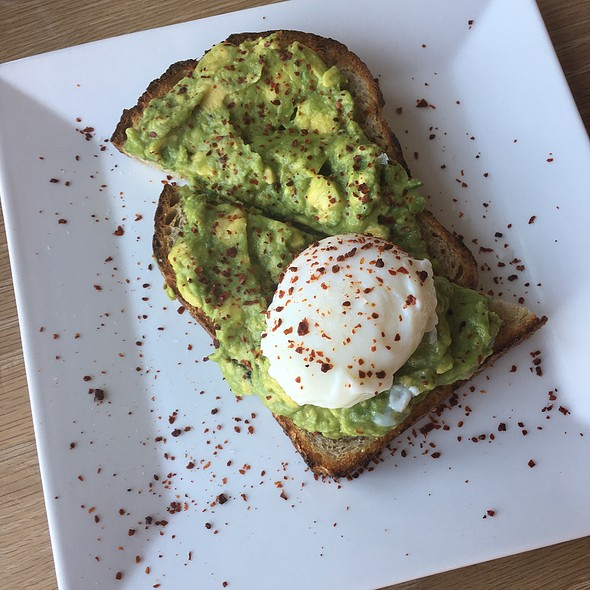 Soft Boiled Egg With Avacado Toast @ Blue Bottle Coffee