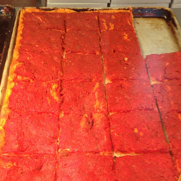 Tomato Pie And Square Pizza @ Cacia's Bakery