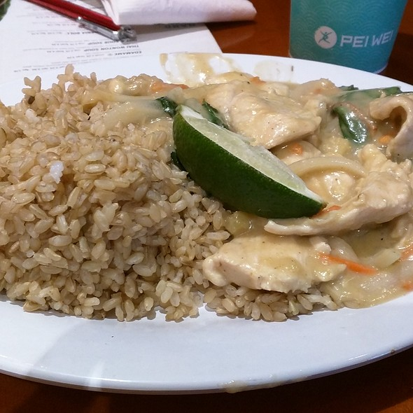Supergreen Thai Coconut Curry @ Pei Wei
