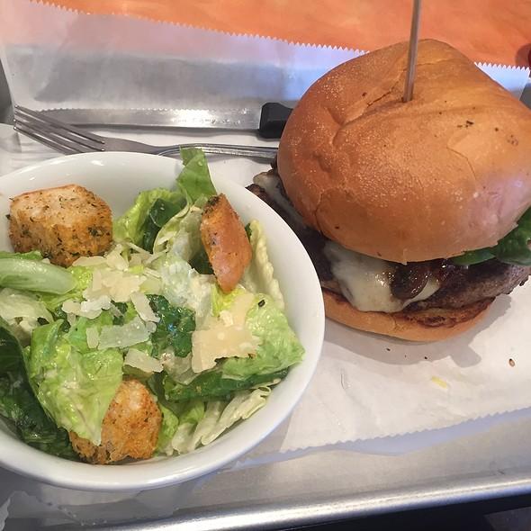 Turkey Burger With Caesar Salad