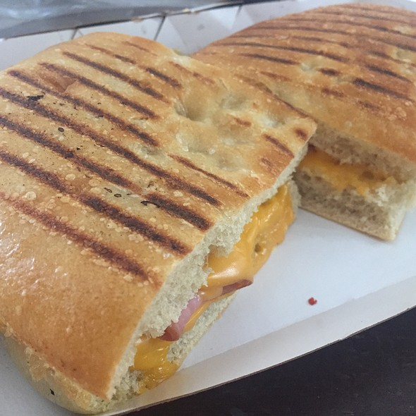 Grilled Ham & Cheese On Black Pepper Focaccia