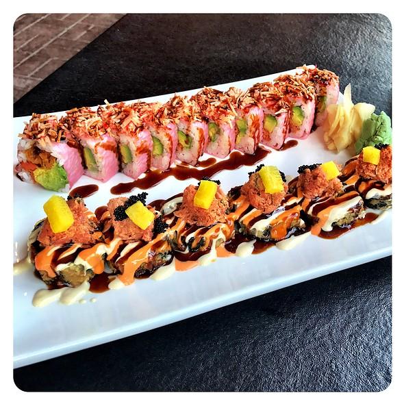 Angry Dragon Roll And Vegas Maki Roll @ Inari Sushi