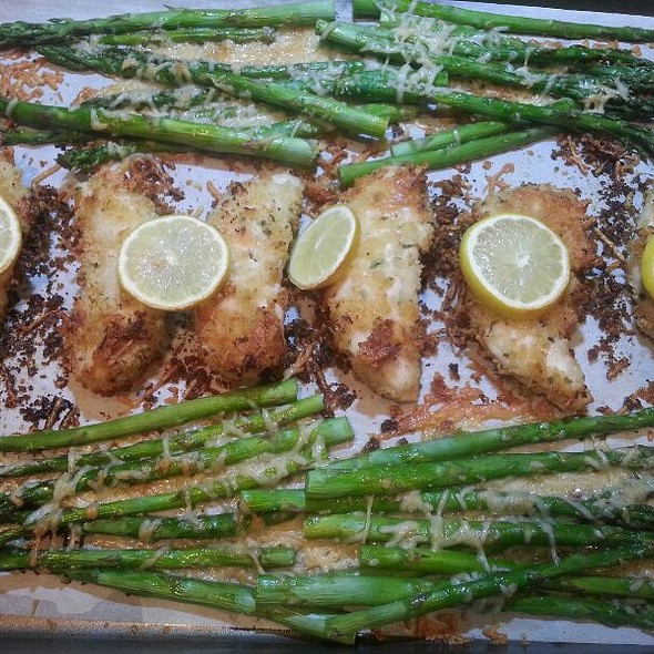 Parmesan Lemon Chicken And Asparagus