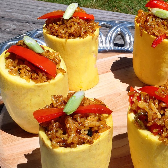 Thai Red Curry In Squash Cups