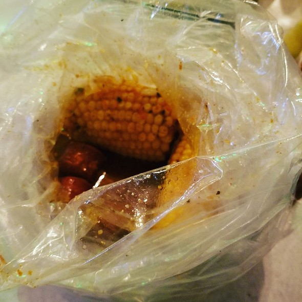 Corn And Sausage @ The Kickin' Crab