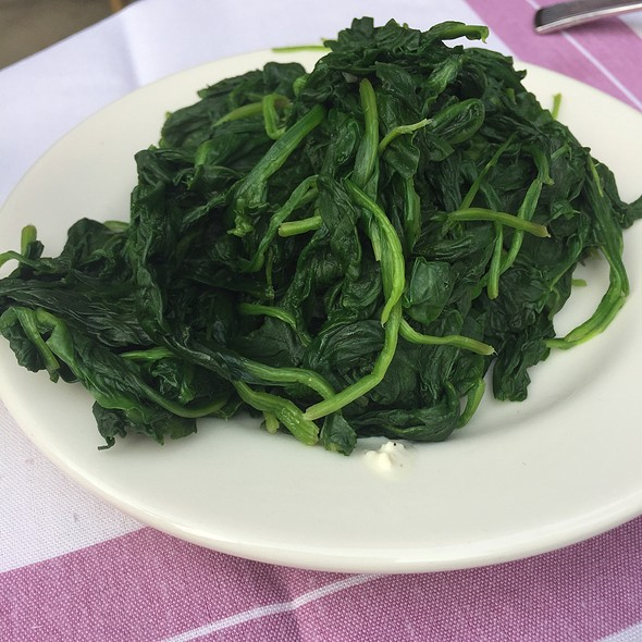 Steamed Spinach @ Gibson's Steakhouse