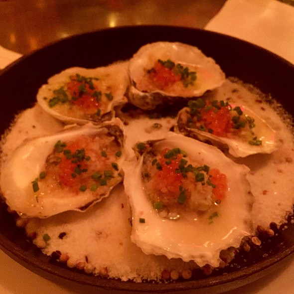 Salt-Baked Oysters With Pernod Butter, Anise, And Smoked Trout Roe