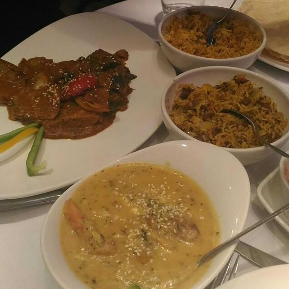Grilled Dick Jaflong, Tandoori Mix Pasanda, Mushroom And Kheema Pilau