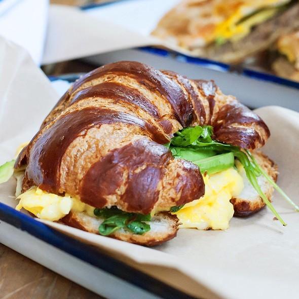Pretzel Croissant Sandwich