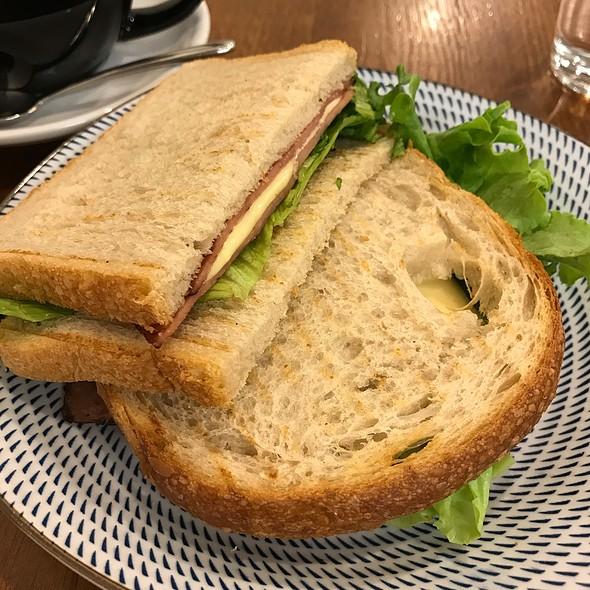 Ham And Cheese Sourdough Sandwich