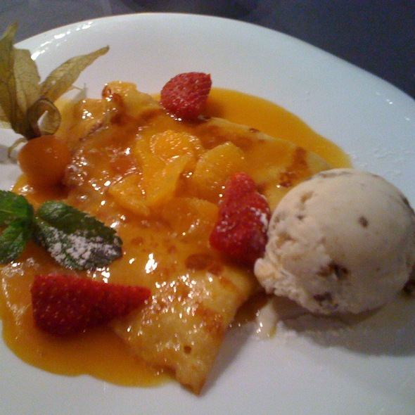 Crepes Suzette with Poached Oranges @ Restaurace Na Kopci