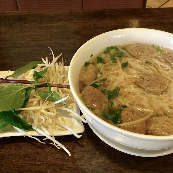 Pho With Beef Meatballs @ Pho Deluxe