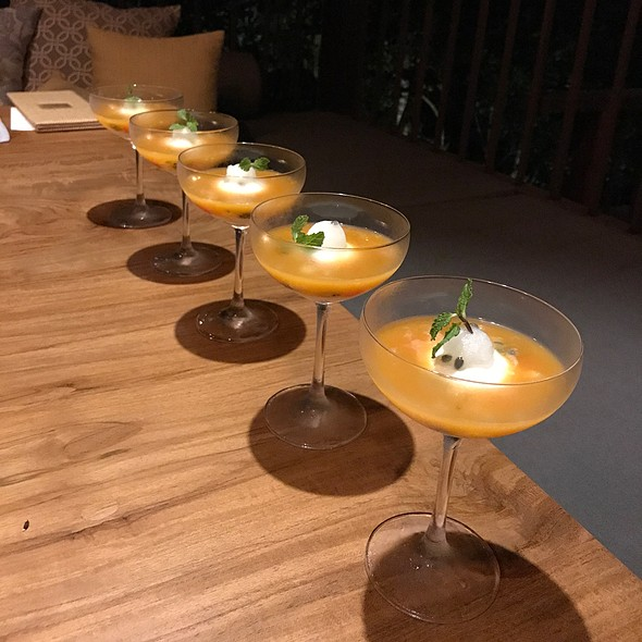 Cheese Mousse And Fresh Fruit Cocktail Style