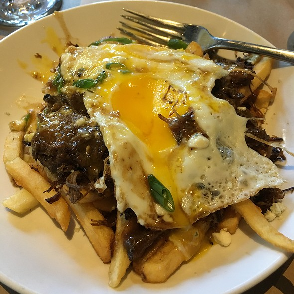 Poutine Short Rib And Poached Eggs