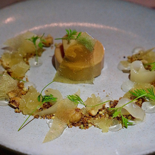Foie gras, pear, buckwheat, sourdough, green apple