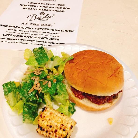 Vegan Sloppy Joe, Grilled Corn, And Vegan Caesar Salad @ Old Ironsides