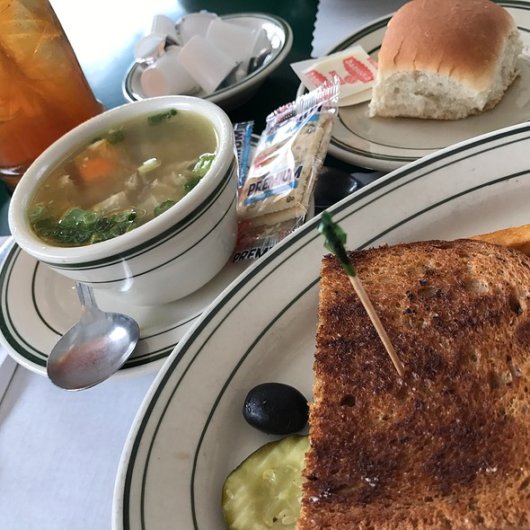 Grilled Ham & Cheese On Rye + Chicken Noodle Soup