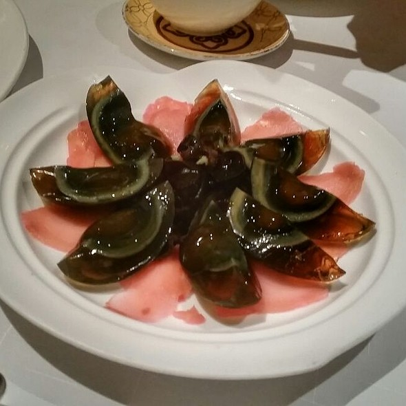 Century Eggs With Pickled Ginger And Cloud Mushroom