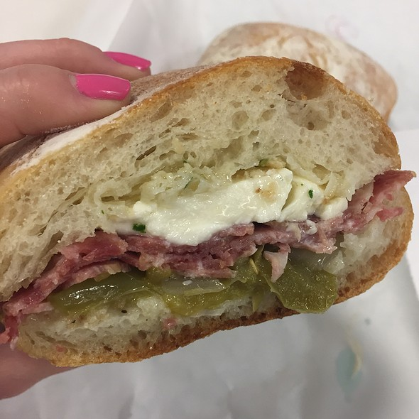 Hot Soppressata Sandwich @ Salumi Artisan Cured Meats